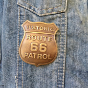 Historic Patrol Route66 : Insigne effet laiton