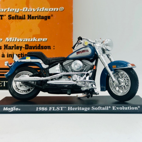 MINIATURE MOTO HERITAGE SOFTAIL 1986 H.D 1/18