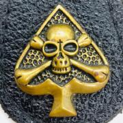 Skull Ace of Spade - Porte Clé Cuir