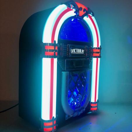 JUKE BOX VICTROLA LUMINEUX BLUETOOTH RADIO CD