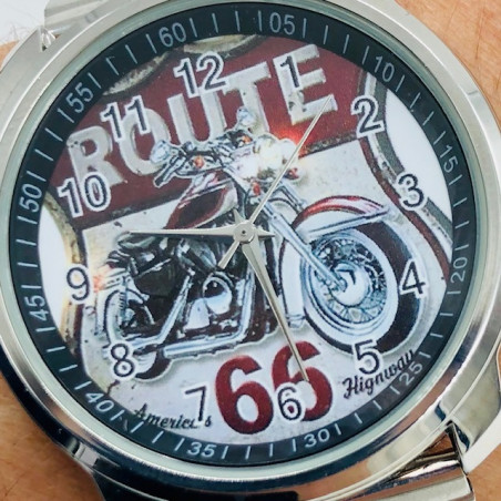 MONTRE ROUTE 66 BRACELET METAL
