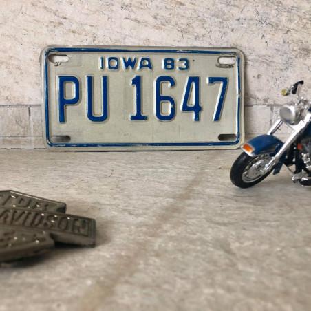 PLAQUE IMMATRICULATION ORIGINALE 1983 USA - Showelhead Harley Davidson
