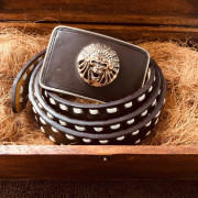 BOUCLE CEINTURE - INDIAN SKULL - Custom Shop