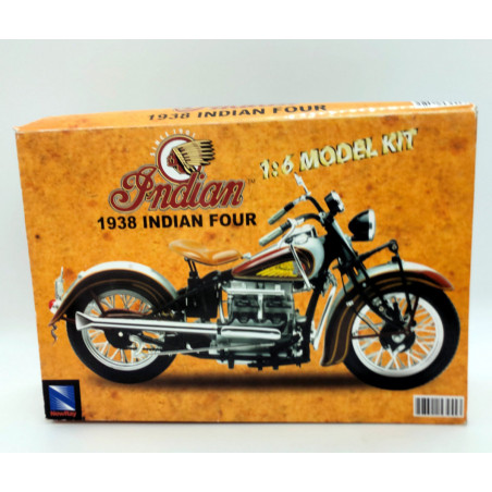 INDIAN MOTORCYCLE 1938 - Maquette collection 1:6 - Kit Grey