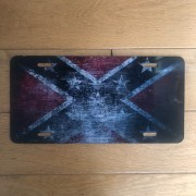 Plaque Metal - Confederate - Made in USA