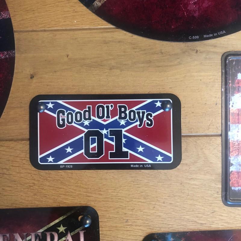 PLAQUE METAL GOOD OL BOYS
