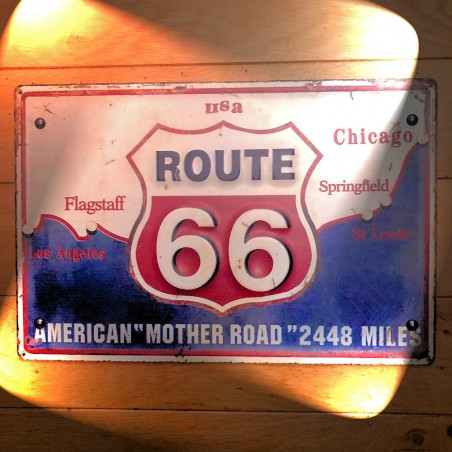 ROUTE 66 AMERICAN MOTHER ROAD PLATE