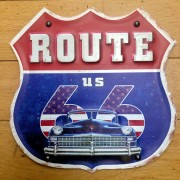 PLAQUE US CAR ROUTE 66