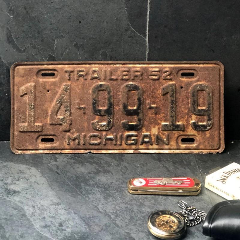 PLAQUE TRAILER - Michigan - 1952
