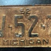 PLAQUE HOT ROD- Michigan - 1952