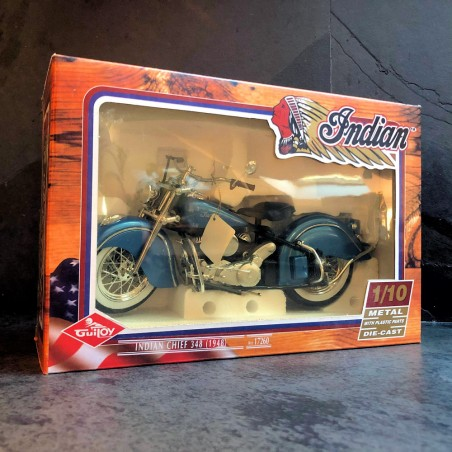 INDIAN CHIEF 348 METAL BLUE