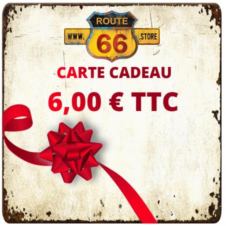 Carte cadeau 6 € ROUTE66.STORE