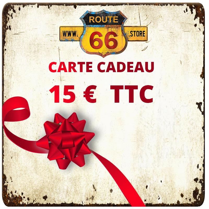 Carte cadeau 15 € ROUTE66.STORE