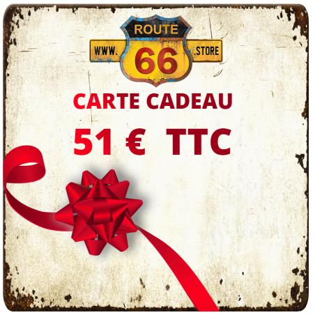 Carte cadeau 51 € ROUTE66 STORE