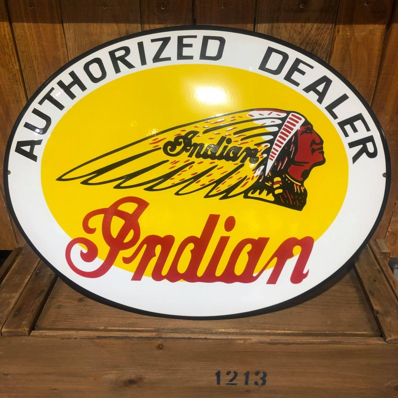 INDIAN AUTHORIZED DEALER - PLAQUE EMAILLEE