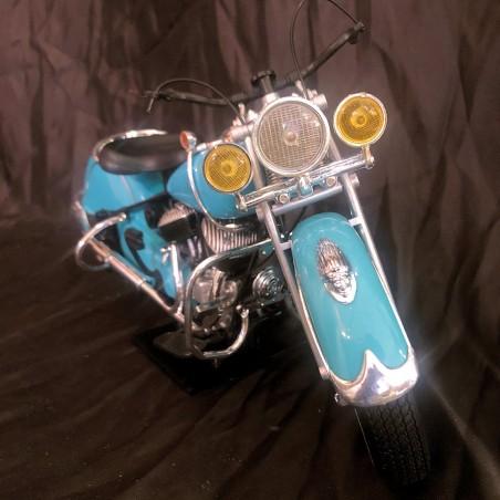 INDIAN CHIEF MINIATURE MOTO 1/6 - Bleu