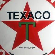 TEXACO - PLAQUE EMAILLEE CARREE - VINTAGE