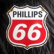 PHILLIPS 66 - PLAQUE EMAILLEE ECUSSON - VINTAGE