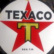 TEXACO - PLAQUE EMAILLEE RONDE - VINTAGE