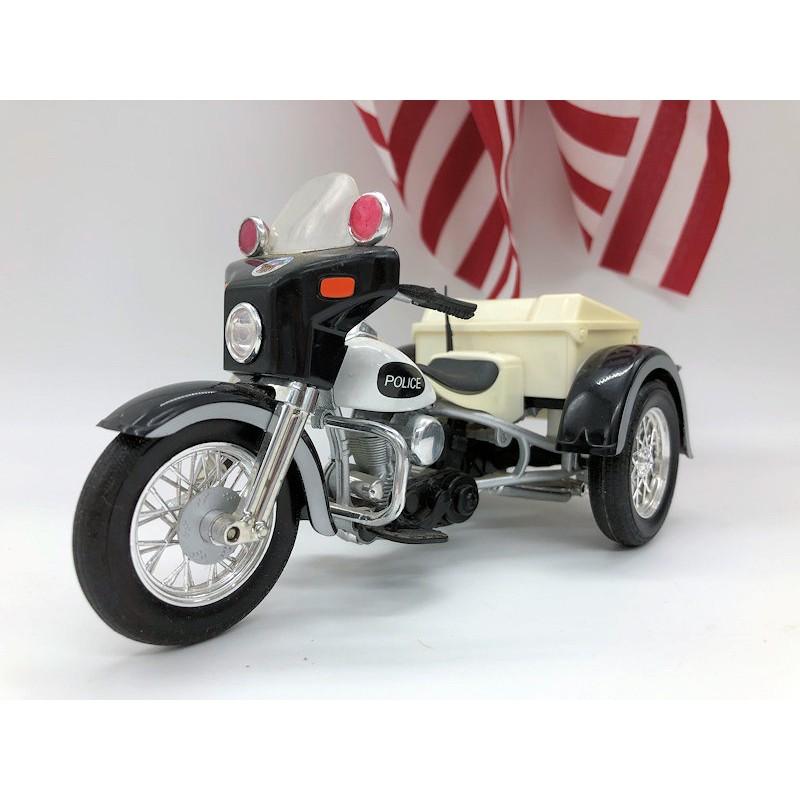 Trike Servicar Police 1957 - Maquette vintage Harley Davidson