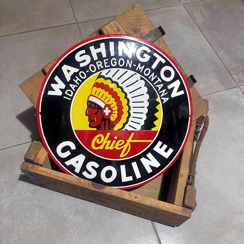 WASHINGTON GASOLINE - PLAQUE EMAILLEE