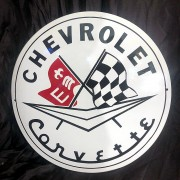 CHEVROLET CORVETTE - PLAQUE EMAILLEE