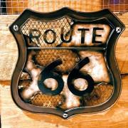 ROUTE 66 - PLAQUE METAL ARTISTIQUE
