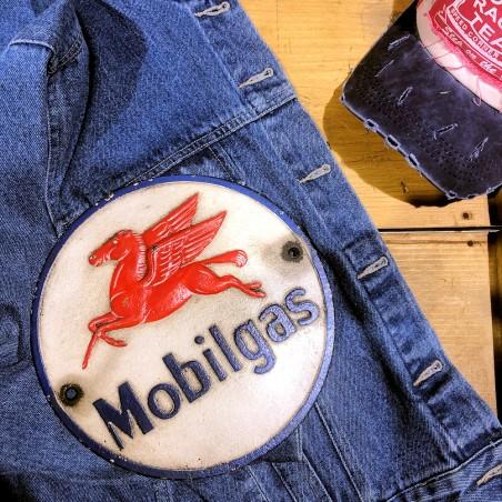 MOBILGAS - PLAQUE RONDE METAL
