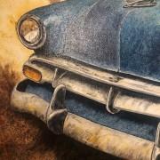 RIDER - TABLEAU TOILE - MICHEL PERRIER - CHEVROLET 1950
