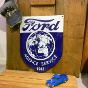 FORD - PLAQUE EMAILLEE - Garage 1947