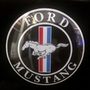 FORD MUSTANG - PLAQUE EMAILLEE