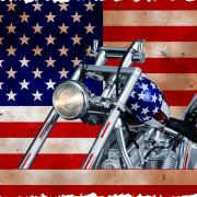 MAQUETTE - EASY RIDER CHOPPER CAPTAIN AMERICA - HARLEY DAVIDSON