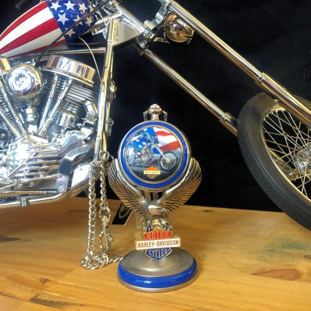 EASY RIDER - HARLEY DAVIDSON - FRANKLIN MINT - Captain America Pochet Watch