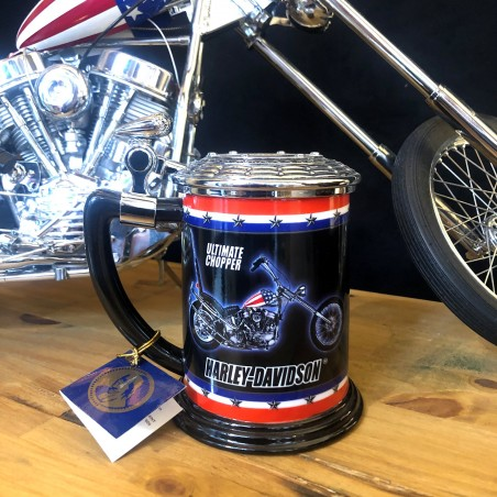 EASY RIDER - HARLEY DAVIDSON - FRANKLIN MINT - Captain America chopper mug