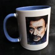 JOHNNY HALLYDAY - Mug série limitée d'après un tableau original créé par ©Michel Perrier