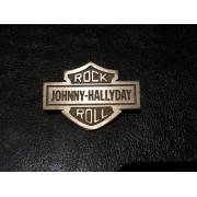 Johnny Hallyday - Pins Original en etain Bar & Shield