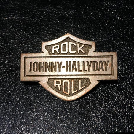 Johnny Hallyday - Pins Original en etain Bar & Shield