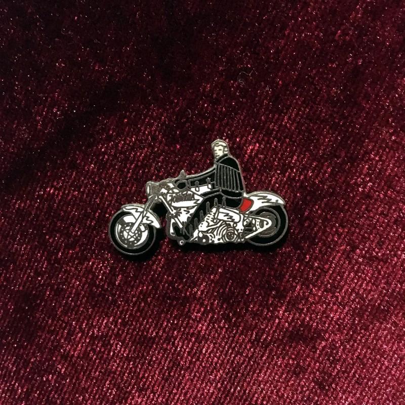 Johnny Hallyday - Pins Moto Harley