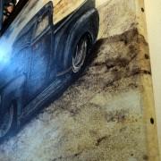 RIDER - TABLEAU TOILE - MICHEL PERRIER - PICKUP VINTAGE