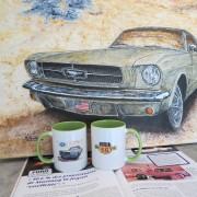 "MUG ""Ford Mustang"" - Artiste Peintre © Michel Perrier"