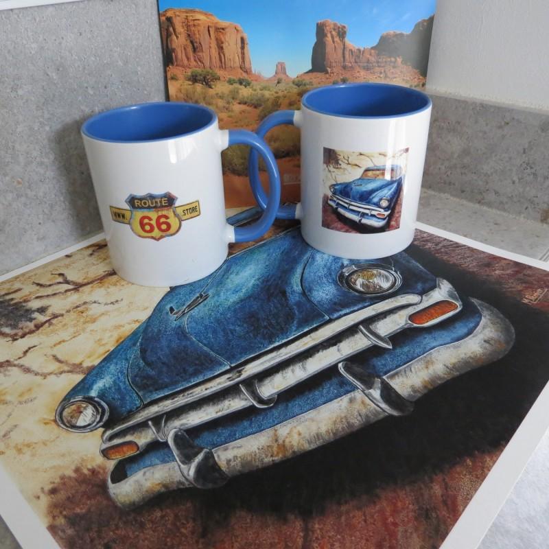 """MUG """"Chevrolet """" - Artiste peintre © Michel Perrier"""