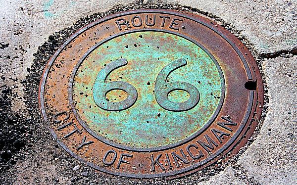 Plaque Metal Route 66